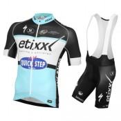 Equipement 2016 Tenue Maillot Cyclisme Courte + Cuissard à Bretelles Etixx-Quick Step Ventes Privées
