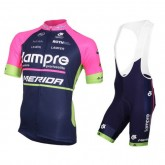 Equipement 2016 Tenue Maillot Cyclisme Courte + Cuissard à Bretelles Lampre Merida Prix En Gros