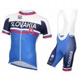 Equipement 2016 Tenue Maillot Cyclisme Courte + Cuissard à Bretelles Slovaquie Equipe Site Francais