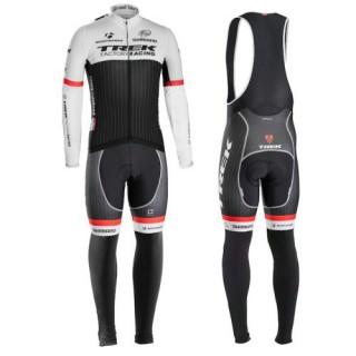 Equipement 2016 Trek Factory Racing Tenue Maillot Cyclisme Longue + Collant à Bretelles Vendre