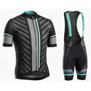 Equipement 2017 Bontrager Ballista Noir-vert Tenue Maillot Cyclisme Courte + Cuissard à Bretelles Original