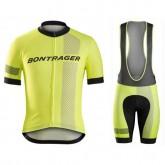 Equipement 2017 Bontrager Specter Jaune Tenue Maillot Cyclisme Courte + Cuissard à Bretelles Pas Cher
