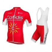 Equipement 2017 Cofidis Equipe Tenue Maillot Cyclisme Courte + Cuissard à Bretelles Faire une remise