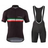 Equipement 2017 De Marchi PT Italie Flag Noir Tenue Maillot Cyclisme Courte + Cuissard à Bretelles Vendre Alsace
