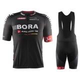 Equipement 2017 Equipe Bora Argon 18 Noir Tenue Maillot Cyclisme Courte + Cuissard à Bretelles Soldes France
