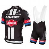 Equipement 2017 Equipe Giant-Alpecin Tenue Maillot Cyclisme Courte + Cuissard à Bretelles à Petit Prix