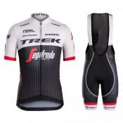 Equipement 2017 Equipe Trek Segafredo RSL TDF Edition Tenue Maillot Cyclisme Courte + Cuissard à Bretelles Remise Lyon