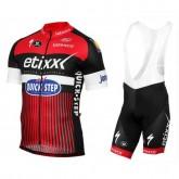 Equipement 2017 Etixx-Quick Step TDF Edition Rouge Tenue Maillot Cyclisme Courte + Cuissard à Bretelles Pas Cher Provence