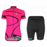 Equipement 2017 Pinarello MIRA Rose Femme Tenue Maillot Cyclisme Courte + Cuissard Cycliste Acheter