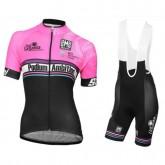 Equipement 2017 Podium Ambition Rose Femme Tenue Maillot Cyclisme Courte + Cuissard à Bretelles France Magasin