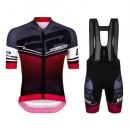 Equipement 2017 Santini Interactive 3.0 Noir-Rouge Tenue Maillot Cyclisme Courte + Cuissard à Bretelles En Ligne