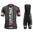 Equipement 2017 Tenue Maillot Cyclisme Courte + Cuissard à Bretelles Bontrager Ballista Noir-coloré Stripe En Soldes