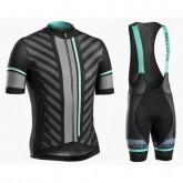 Equipement 2017 Tenue Maillot Cyclisme Courte + Cuissard à Bretelles Bontrager Ballista Noir-vert En Ligne