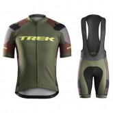 Equipement 2017 Tenue Maillot Cyclisme Courte + Cuissard à Bretelles Bontrager Trek RL Camouflage Réduction Prix