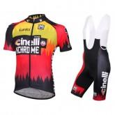 Equipement 2017 Tenue Maillot Cyclisme Courte + Cuissard à Bretelles Cinelli Chrome Prix France