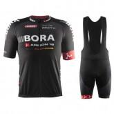Equipement 2017 Tenue Maillot Cyclisme Courte + Cuissard à Bretelles Equipe Bora Argon 18 Noir Remise Paris en ligne
