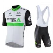 Equipement 2017 Tenue Maillot Cyclisme Courte + Cuissard à Bretelles Equipe Dimension Date Blanc Site Officiel France