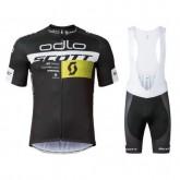 Equipement 2017 Tenue Maillot Cyclisme Courte + Cuissard à Bretelles Scott ODLO Equipe Noir à Vendre