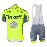 Equipement 2017 Tenue Maillot Cyclisme Courte + Cuissard à Bretelles Tinkoff Equipe TDF Edition En Ligne