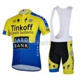 Equipement Tenue Maillot Cyclisme Courte + Cuissard à Bretelles  Tinkoff Equipe TDF EditionJaune Boutique En Ligne