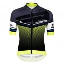 FR Maillot Cyclisme Manche Courte Santini Interactive 3.0 Noir-vert 2017