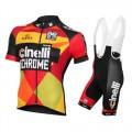 France Equipement 2016 Tenue Maillot Cyclisme Courte + Cuissard à Bretelles Equipe Cinelli Chrome