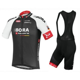 France Equipement 2017 Bora Argon 18 TDF Edition Tenue Maillot Cyclisme Courte + Cuissard à Bretelles