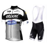 France Equipement 2017 Tenue Maillot Cyclisme Courte + Cuissard à Bretelles Etixx-Quick Step TDF Edition Blanc