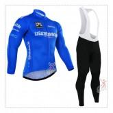 Giro de italie 2017 Tenue Maillot Cyclisme Longue + Collant à Bretelles Bleu Site Francais