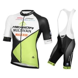 La Boutique Officielle Equipement 2017 Tenue Maillot Cyclisme Courte + Cuissard à Bretelles Multivan Merida Biking Equipe