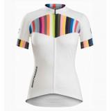 La Boutique Officielle Maillot Cyclisme Manche Courte Bontrager Anara Femme Blanc et Color Stripes 2017