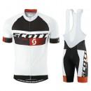 La Collection 2017 Equipement 2016 Tenue Maillot Cyclisme Courte + Cuissard à Bretelles Scott RC Pro Noir-Blanc-Rouge