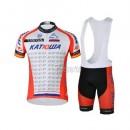 Magasin Tenue Maillot Cyclisme Courte + Cuissard à Bretelles Katusha 2 Paris