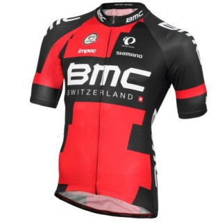 Maillot Cyclisme Manche Courte BMC Racing Equipe 2016 Vendre Alsace