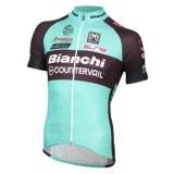 Maillot Cyclisme Manche Courte Bianchi MTB vert 2017 la Vente à Bas Prix