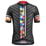 Maillot Cyclisme Manche Courte Bontrager Ballista Noir-coloré Stripe 2017 Soldes France