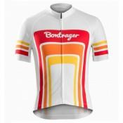 Maillot Cyclisme Manche Courte Bontrager Santa Cruz 1980 Blanc et Rouge 2017 Promos Code