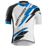 Maillot Cyclisme Manche Courte Bontrager Specter Bleu-Blanc 2017 Réduction