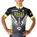 Maillot Cyclisme Manche Courte Braveheart Wing Noir-vert 2017 Remise Lyon