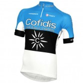 Maillot Cyclisme Manche Courte Cofidis Estontian Champion Bleu 2017 Pas Cher Provence