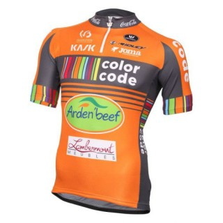 Maillot Cyclisme Manche Courte Color-Code Aquality Orange Protect 206 Commerce De Gros