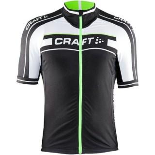 Maillot Cyclisme Manche Courte Craft Bike Grand Tour Noir-Blanc-vert 2016 Rabais Paris
