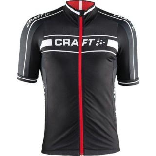 Maillot Cyclisme Manche Courte Craft Bike Grand Tour Noir-Rouge 2016 Magasin Paris