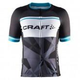 Maillot Cyclisme Manche Courte Craft Classic Logo Noir-Blanc 2017 Soldes Marseille
