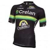 Maillot Cyclisme Manche Courte Crelan-AA Drink Noir 2017 Promo Prix Paris