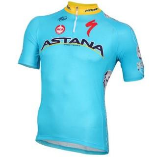 Maillot Cyclisme Manche Courte Equipe Astana 2016 Soldes Paris