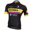 Maillot Cyclisme Manche Courte Equipe Colombia Noir 2016 Soldes Nice