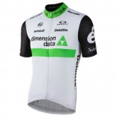 Maillot Cyclisme Manche Courte Equipe Dimension Date Blanc 2017 Escompte En Lgine