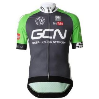 Maillot Cyclisme Manche Courte Equipe GCN Noir et vert 2017 Paris