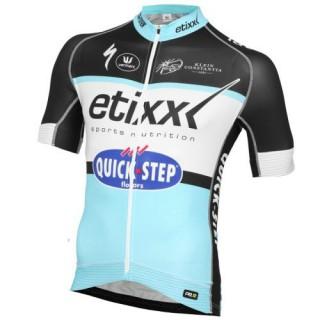 Maillot Cyclisme Manche Courte Etixx-Quick Step 2016 France Pas Cher